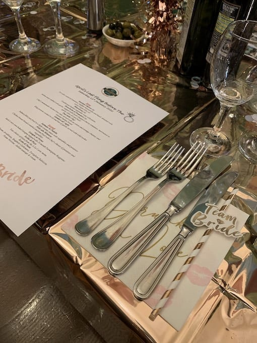 Private Dining Menu Glasgow - Sarti Renfield St