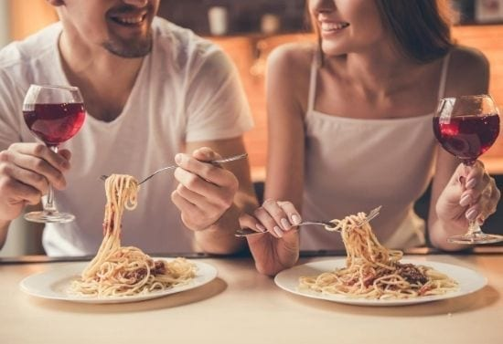 romantic meal for two - sarti @ home