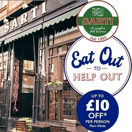 Eat out to help out - Sarti Italian Restaurants, Glasgow
