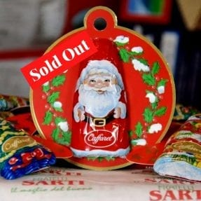 Caffarel Chocolate Santa Tree Decoration - out of stock