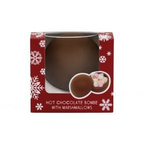Christmas Hot Chocolate Bombe With Marshmallows