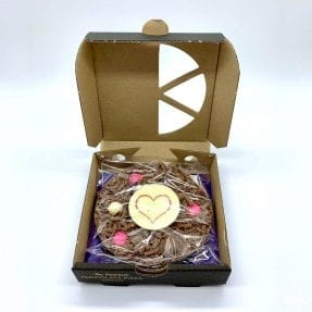 Chocolate Pizza With Heart