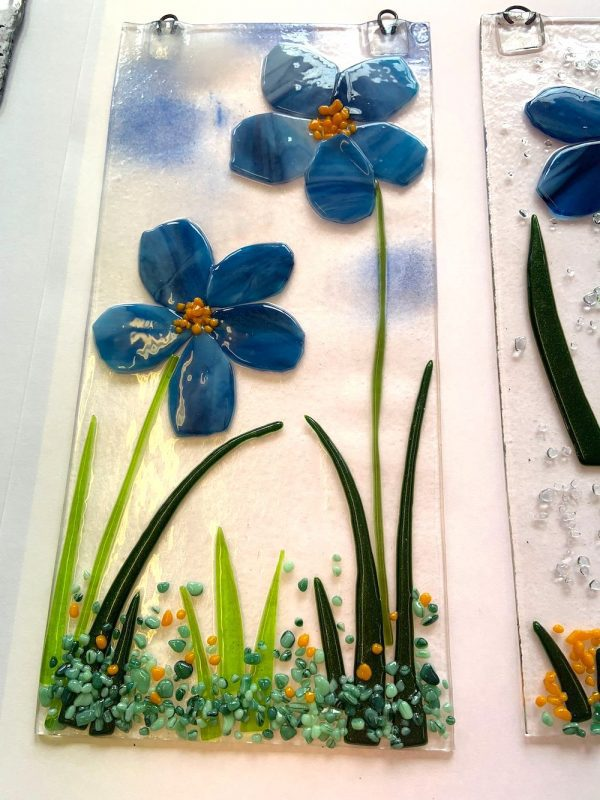Fused Glass Wall Hangings (With Hooks) #2