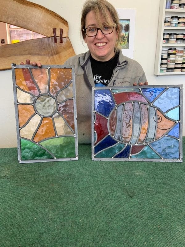 Stained Glass Class Glasgow - Sun & Fish Designs