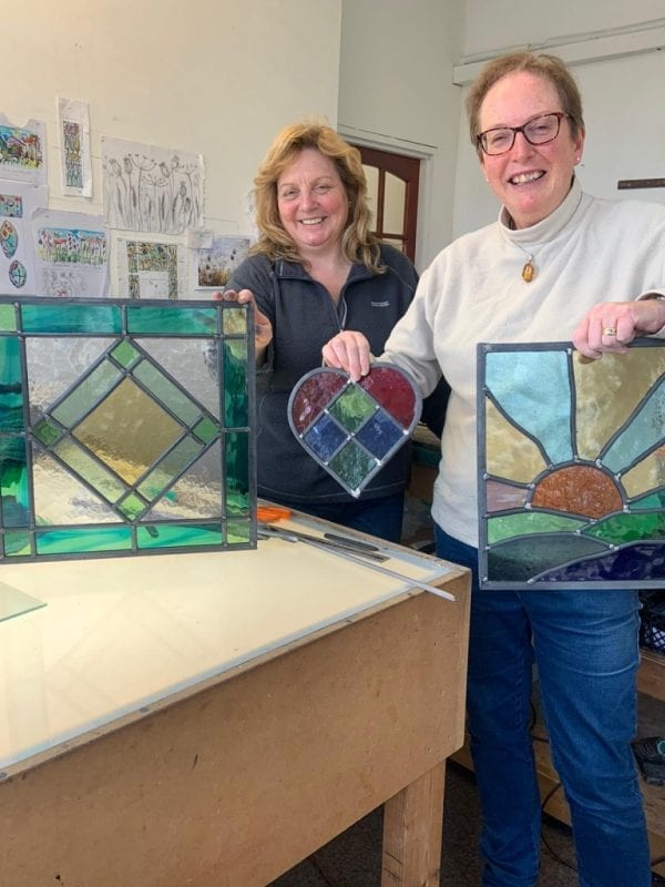 Stained Glass Class - finished panels