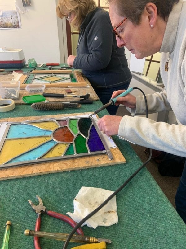 Stained Glass Workshop - leading up (pre-covid)