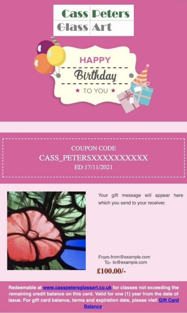 Birthday Voucher Example