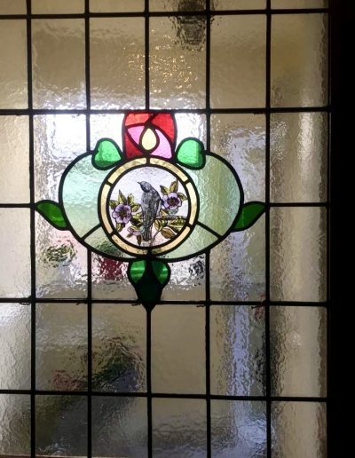 New stained glass door panel