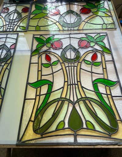 Stained glass windows in progress #1