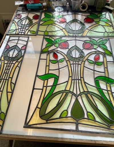 Stained glass windows in progress #2