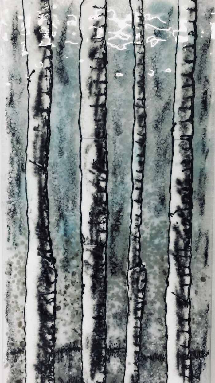 fused glass wall hanging - Cass Peters Glass Art