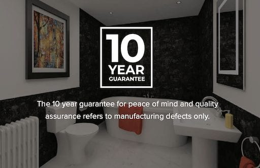 10ye Guarantee On Bathroom Wall Panels