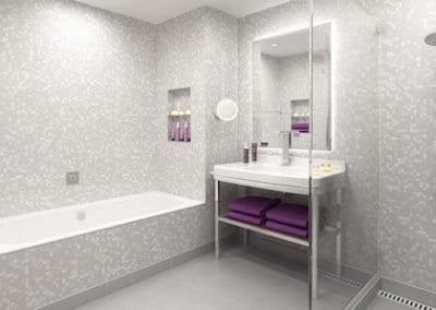 Harmony white pixel - click wet wall panel