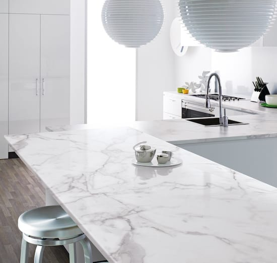 Formica Prima Calacatta Marble Kitchen Worktop - KM Decorative Surfaces, Glasgow