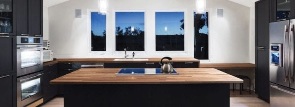 Prima Formica Natural Block Walnut Island Worktop - KM Decorative Surfaces, Glasgow