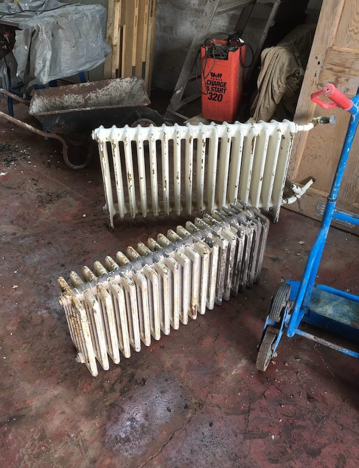 radiators prior to stripping - Glasgow