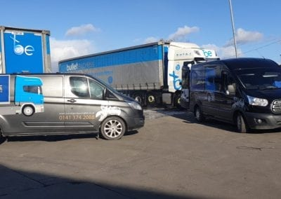 mobile lorry wash - Truck Post Clean - Prestige Fleet Cleaning - scotland