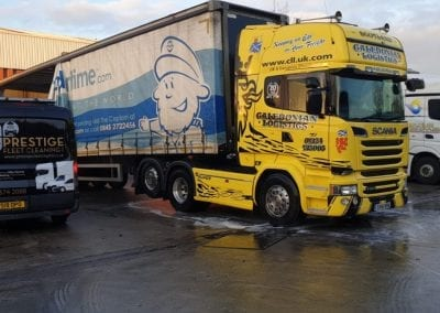 Caledonian Logistics - Eddie Stobart - Truck Post Clean - Prestige Fleet Cleaning