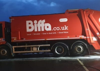 Biffa Waste Lorry - Truck Post Clean - Prestige Fleet Cleaning - Scotland