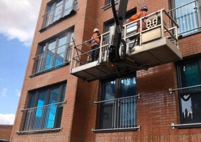 New Build Flats - brickwork cleaning