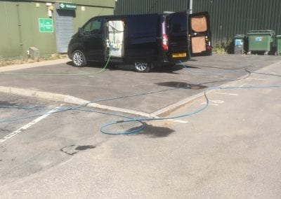 Industrial car park pressure washing