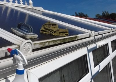 conservatory gutter cleaning