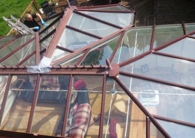cleaning conservatory roof